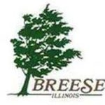Logo for Breese IL showing a tree blowing in the wind.