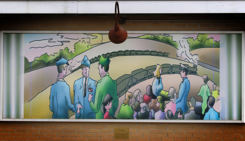 The Service Man mural.