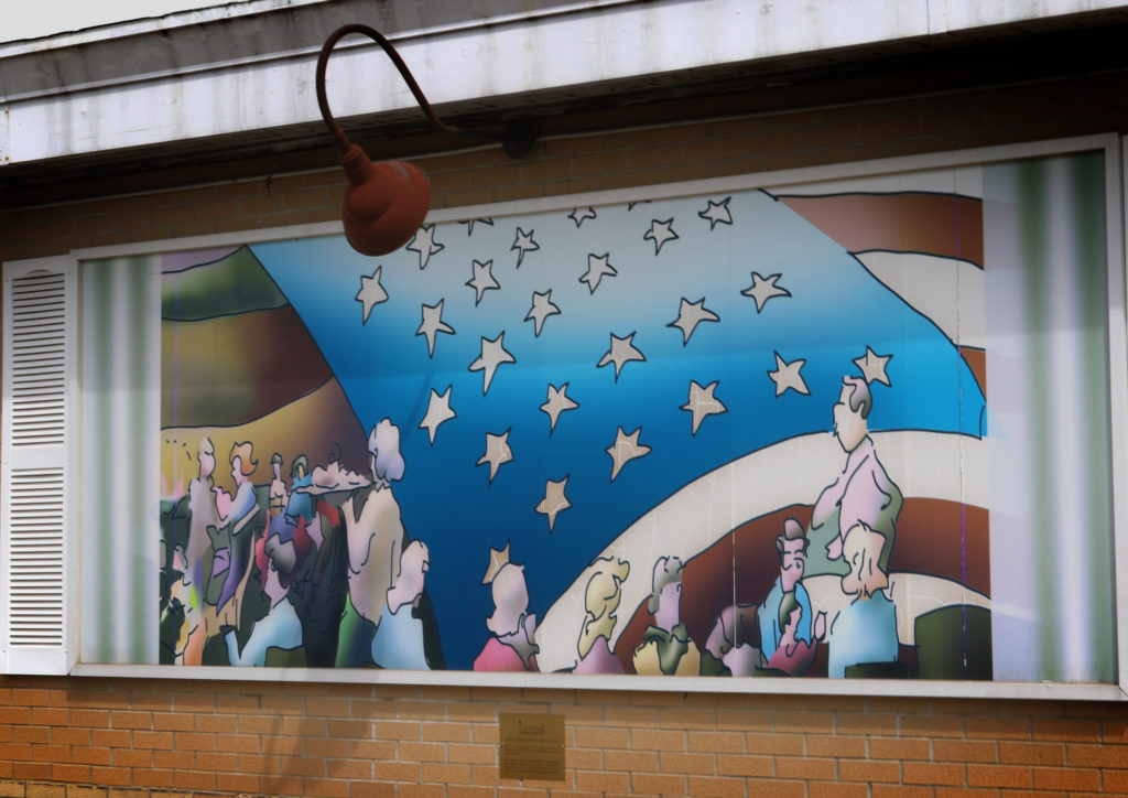 The Area Residents mural.