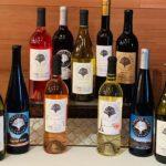 Arrangement of 9 bottles of wine from Twelve Oaks Vineyards.