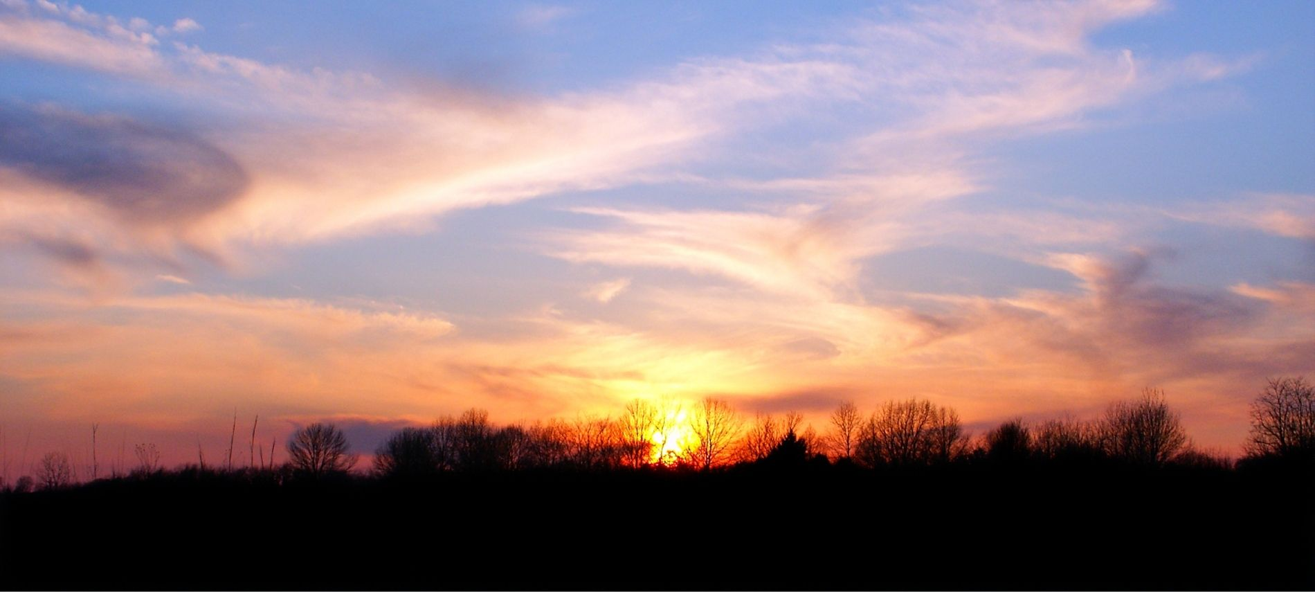 Gorgeous sunset in the IL countryside