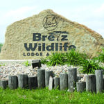 Sign cut into a rock for Bretz Wildlife Winery